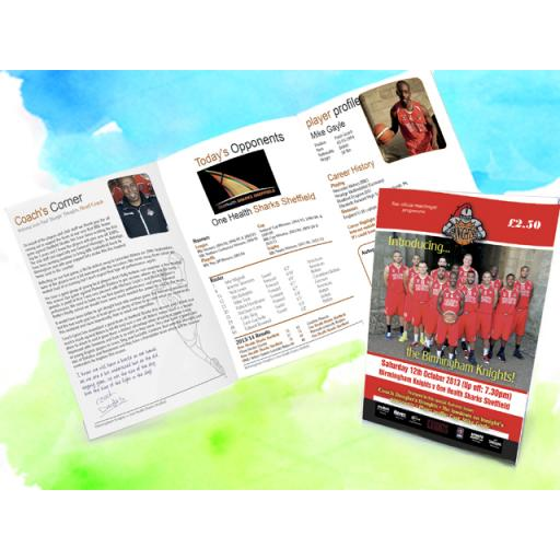 A5 Folded 6page Leaflet 170gsm