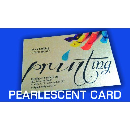 300gsm Pearlescent cards